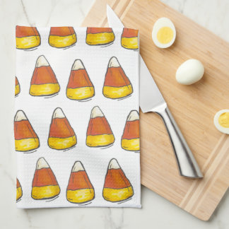 Candy Corn Halloween Thanksgiving Trick or Treat Kitchen Towel