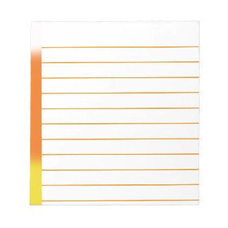 Candy Corn Ombre Notepad