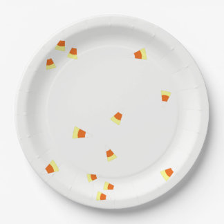 Candy Corn Paper Plate