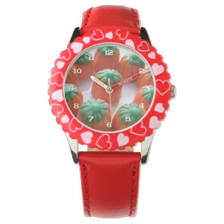 Candy Corn Pumpkin Shaped Wrist Watch