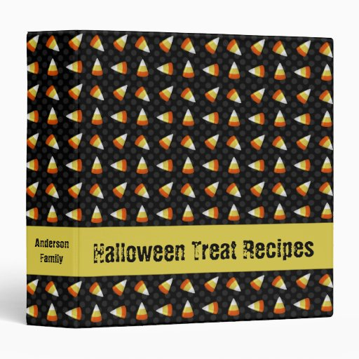Candy Corn Recipe Binder