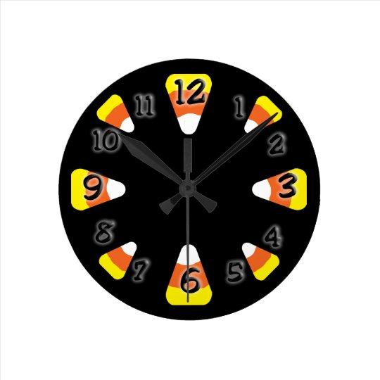 Candy Corn Round Clock