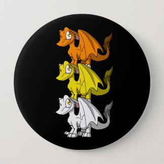 Candy Corn SD Furry Dragons Set 4 Inch Round Button