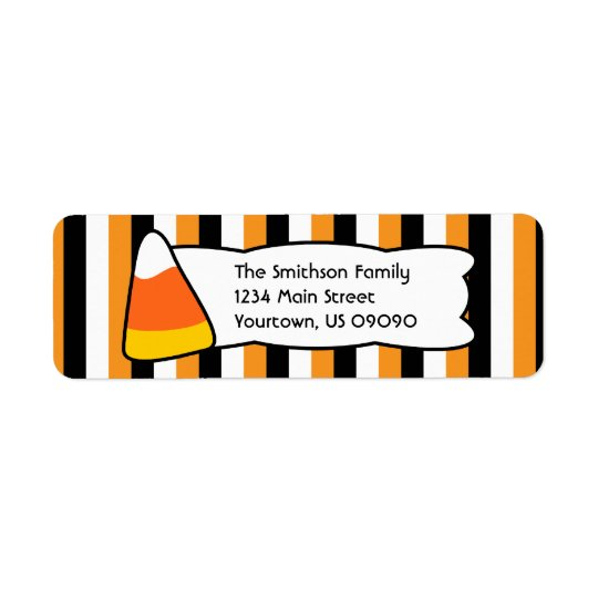 Candy Corn Stripes Return Address Labels