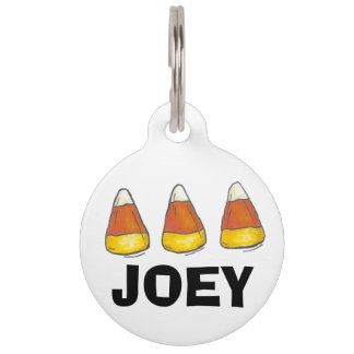 Candy Corn Thanksgiving Halloween Custom Pet Tag