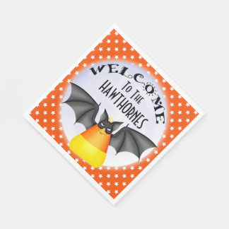 Candy Corn Vampire Halloween Napkin Disposable Napkin