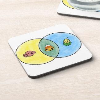 Candy Corn Venn Diagram Coaster