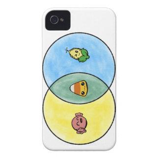 Candy Corn Venn Diagram iPhone 4 Covers