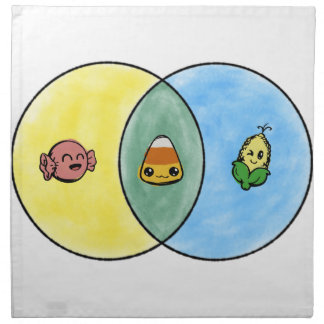 Candy Corn Venn Diagram Napkin