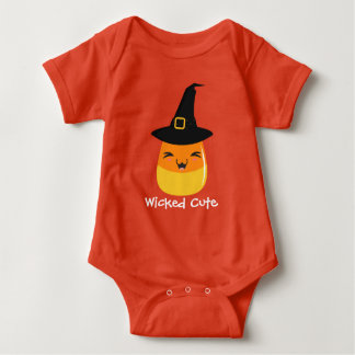 Candy Corn Wicked Cute Halloween Baby Baby Bodysuit