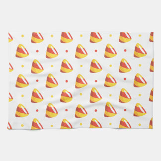 candy corns Halloween Candy Pattern Hand Towel