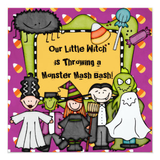 Candy Corny Halloween Party Invitation