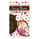 Candy Damask Chicks Colour Dots Custom Profile Car Business Cards