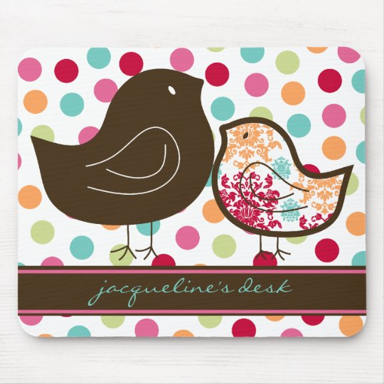 Candy Damask Chicks Colourful Polka Dots Mousepad