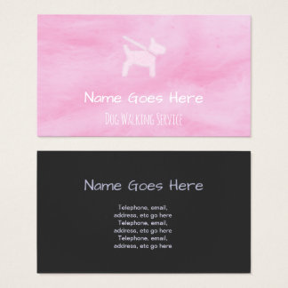 """Candy"" Dog Walker Business Cards"