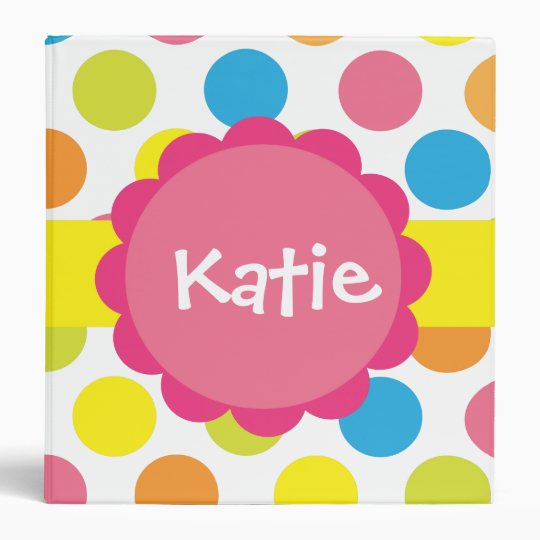Candy Dots Personalized Binder
