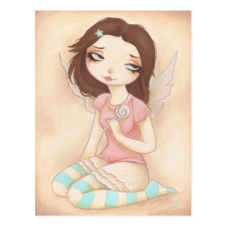 CANDY FAIRY something sweet Postcard