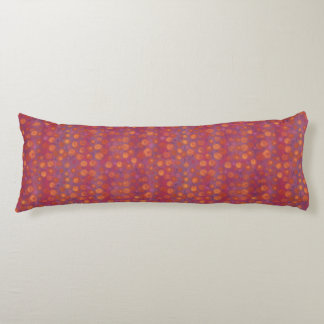 Candy Field, abstract floral pattern, pink orange Body Pillow