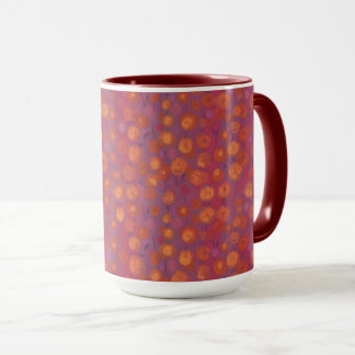 Candy Field, abstract floral pattern, pink orange Mug