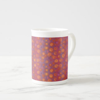 Candy Field, abstract floral pattern, pink orange Tea Cup