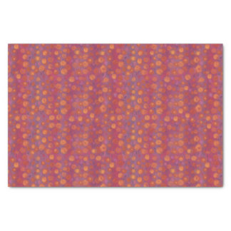 Candy Field, abstract floral pattern, pink orange Tissue Paper