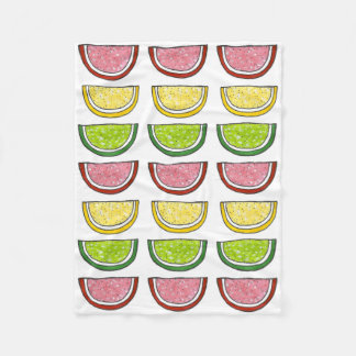 Candy Fruit Slice Lemon Lime Candies Food Blanket