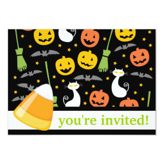 Candy Halloween Party Invitation (festive mix)