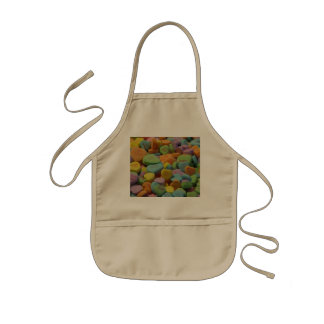 Candy Heart Be Mine I love you Texture Template Kids Apron