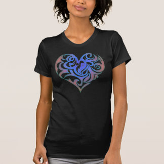 Candy Heart Blue Glow T-Shirt