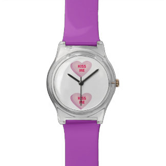 Candy heart Kiss Me Watches