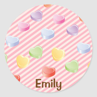 Candy Heart Personalized Sticker
