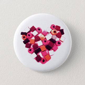 candy heart pin button