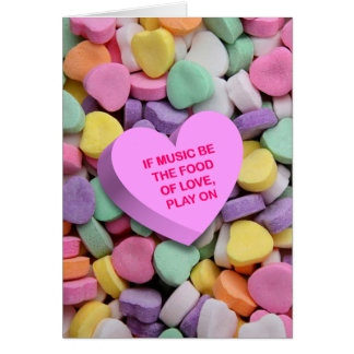 Candy Heart Poetry Valentine's Card