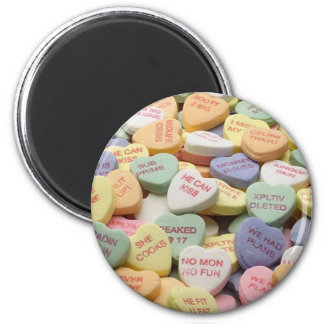Candy Hearts 2 Inch Round Magnet