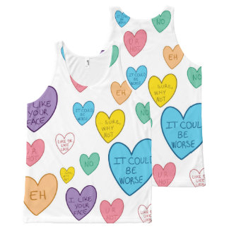 Candy Hearts All-Over-Print Tank Top