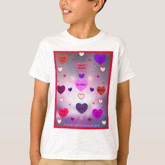 Candy Hearts by Diamante Lavendar! T-Shirt