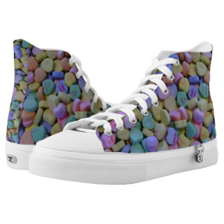 Candy Hearts design High Tops