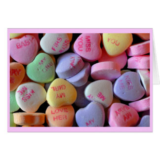 Candy Hearts for Valentine's Day Card