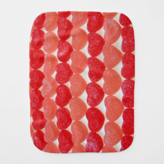 Candy Hearts In A Row Burp Cloth