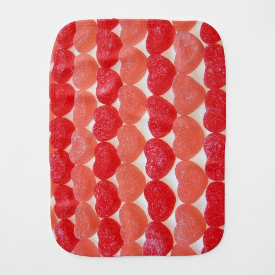 Candy Hearts In A Row Burp Cloths