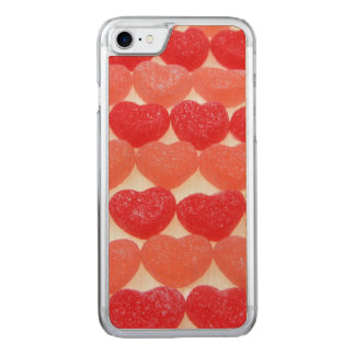 Candy Hearts In A Row Carved iPhone 8/7 Case