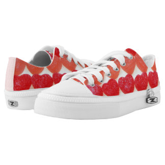 Candy Hearts In A Row Low-Top Sneakers
