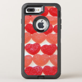 Candy Hearts In A Row OtterBox Defender iPhone 8 Plus/7 Plus Case