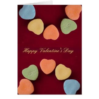 Candy Hearts Photo Card