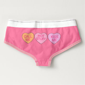 Candy Hearts Pink Valentine's Day Love Underwear