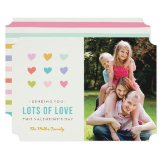 "Candy Hearts Valentine's Day Card 5"" X 7"" Invitation Card"