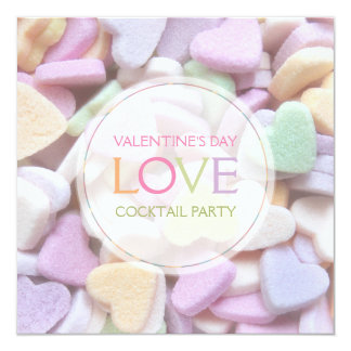 Candy Hearts Valentine's Day Party Invitation