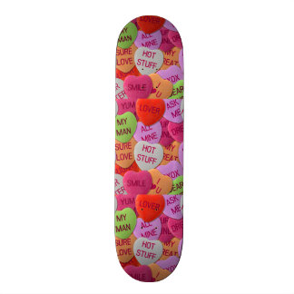 Candy Hearts With Sweet Sayings Custom Skateboard