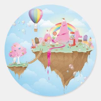 Candy Island Classic Round Sticker