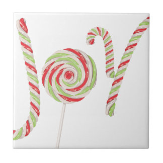 Candy Joy Word Ceramic Tiles